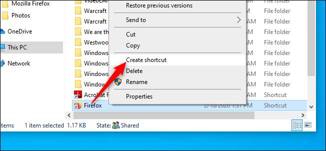 Create a Firefox Browser Shortcut