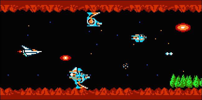 Artwork from Gradius for the NES