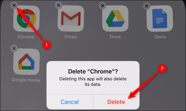 iOS Delete Chrome