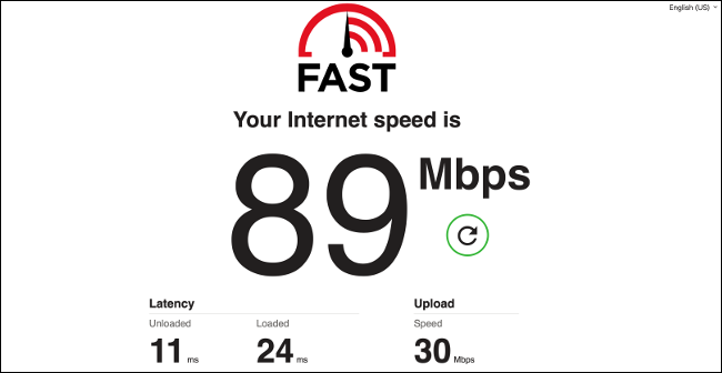 The Netflix Internet Connection Speed Test.