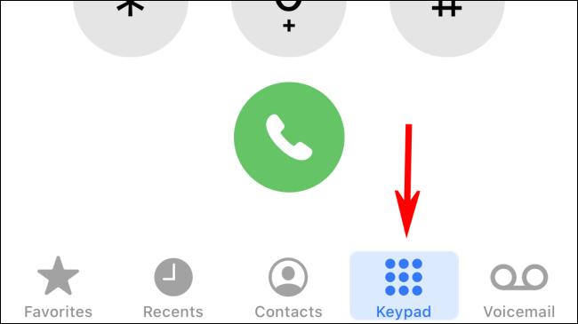 Tap on Keypad to switch to keypad mode