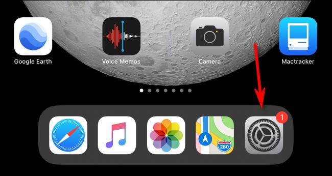 Launch Settings App on an iPad