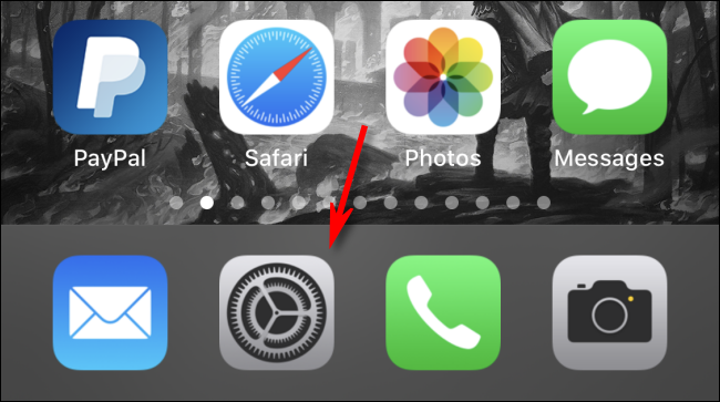 """Tap the gear icon to open the """"Settings"""" app."""
