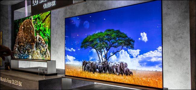 Two LG 8K OLED TVs at IFA 2019.