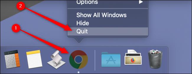 macOS Quit Chrome