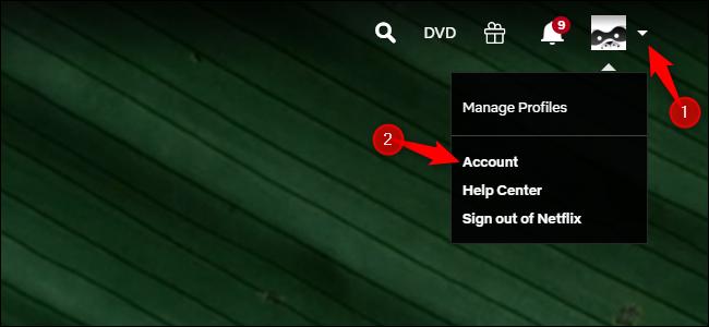 Mengakses opsi akun Netflix