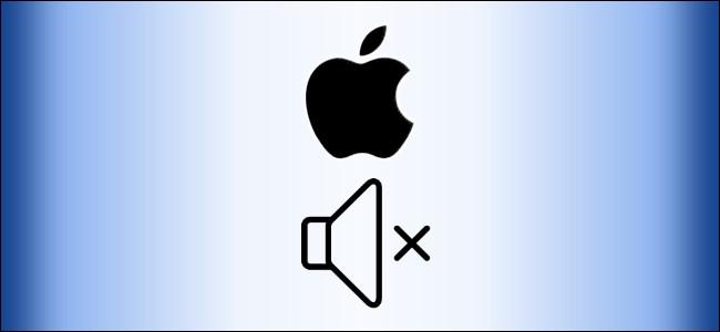 Apple Mac turn off chime symbols