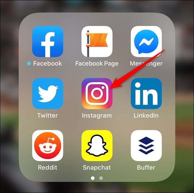 Open the Instagram App on Your Smartphone