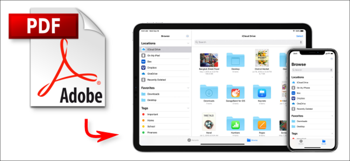 Saving a PDF document to an iPhone or iPad
