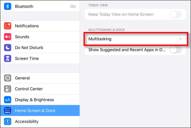 Select Multitasking options