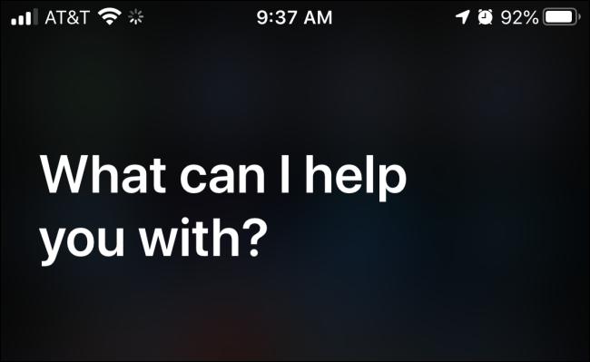 Launching Siri