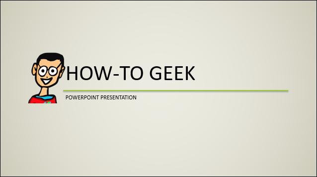 title slide of new presentation