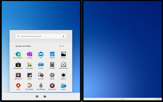 Windows 10X in Microsoft's new emulator