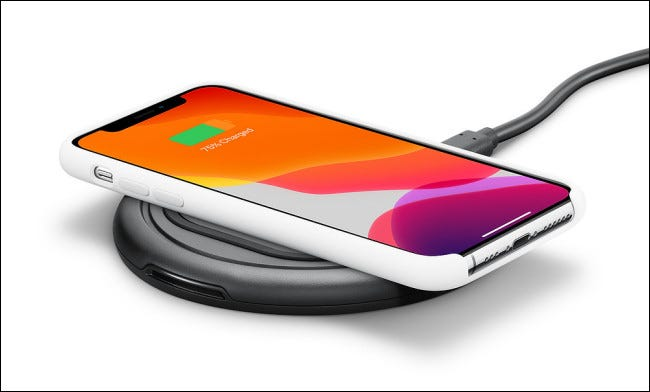 Photo of an Otterbox wireless iPhone charger