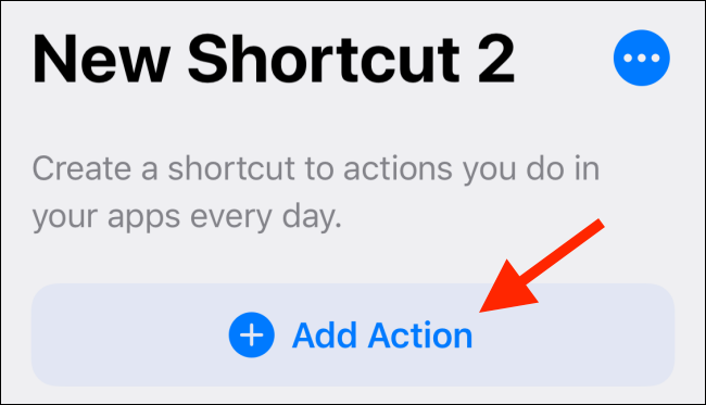 Tap Add Action button