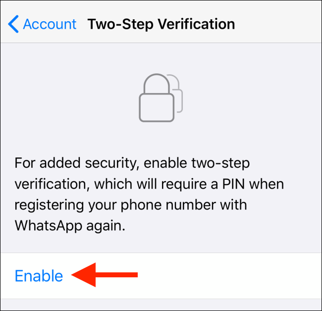 """Tap """"Enable."""""""