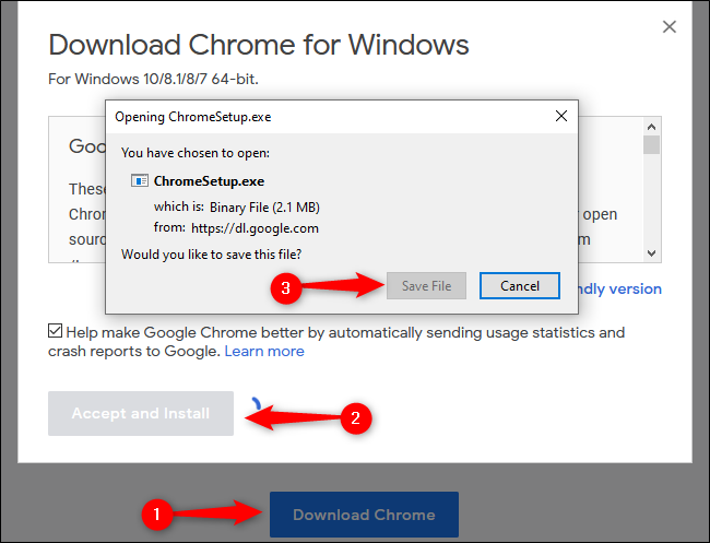 Windows 10 Downloading Chrome