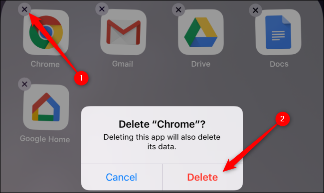 iOS Delete Chrome