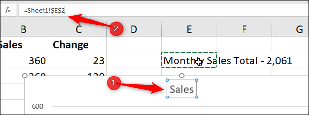 Link the chart title to a cell value