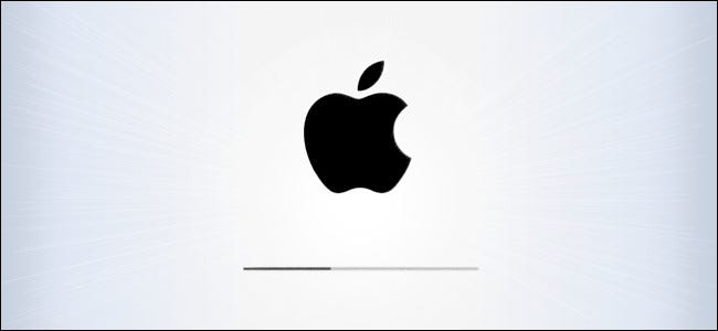 The Apple logo on the iPad and iPhone OS update screen.