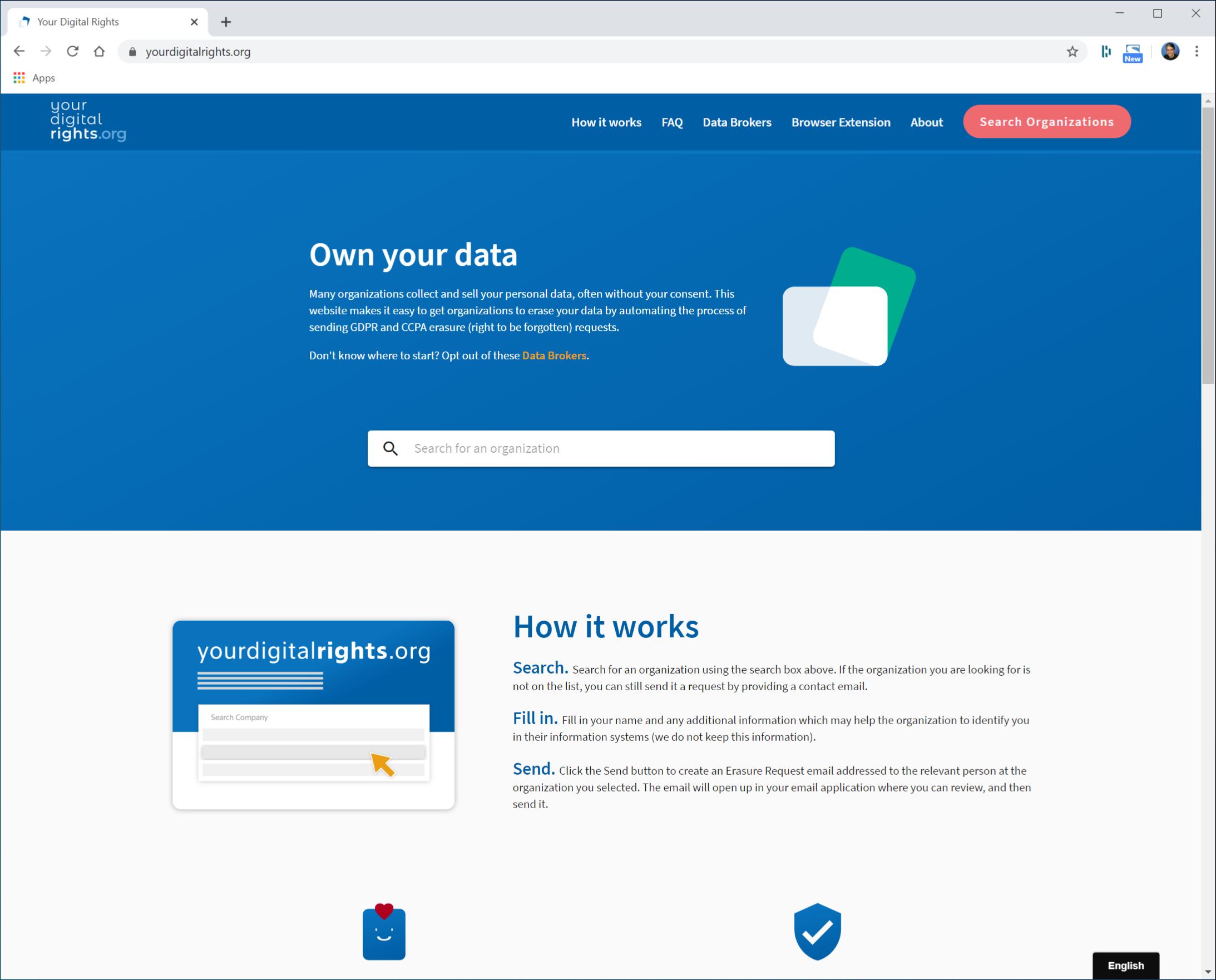 The YourDigitalRights website.