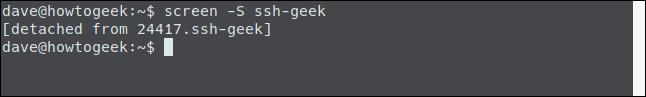 User returned to their original terminal window