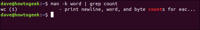 "The ""man -k word 