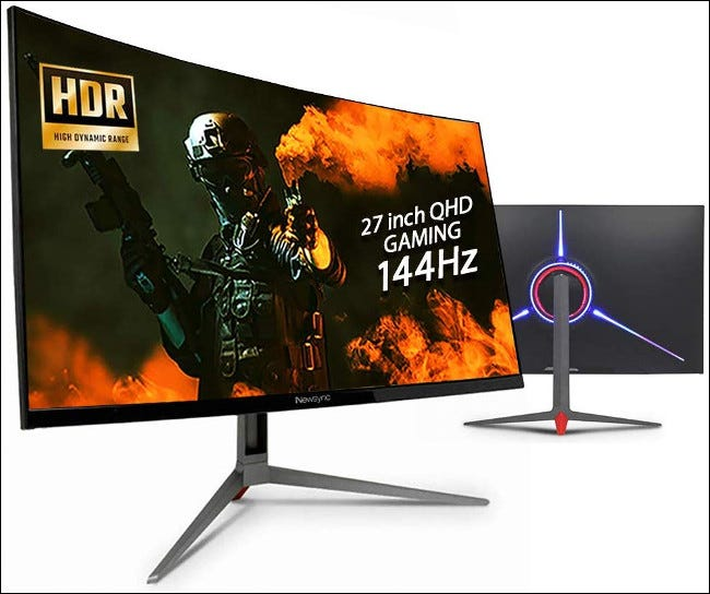 Two NewSync 144 hz Refresh Rate Monitors.