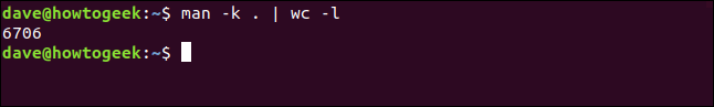 "The ""man -k . 