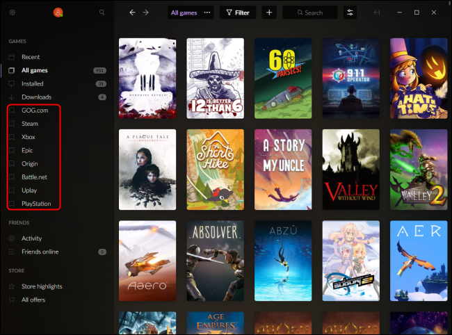 GOG Galaxy Integrated Library