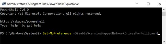 Escriba el comando en la ventana de PowerShell y presione Entrar.