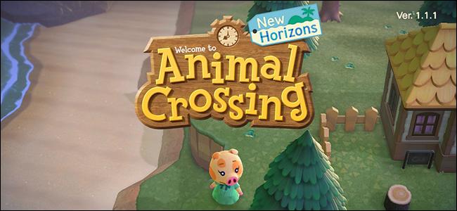 Animal Crossing New Horizons start menu