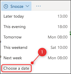 """The """"Choose a date"""" option."""