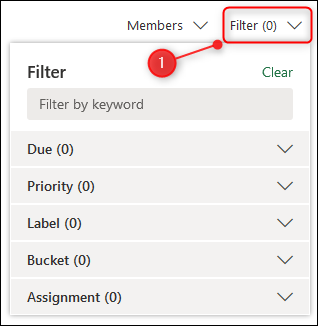 """The """"Filter"""" option."""