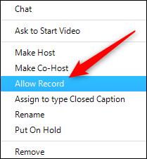 Allow recording