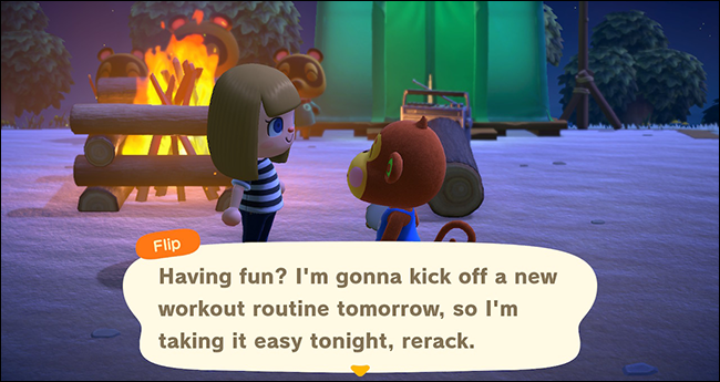 "Interacting with residents in ""Animal Crossing: New Horizons"""