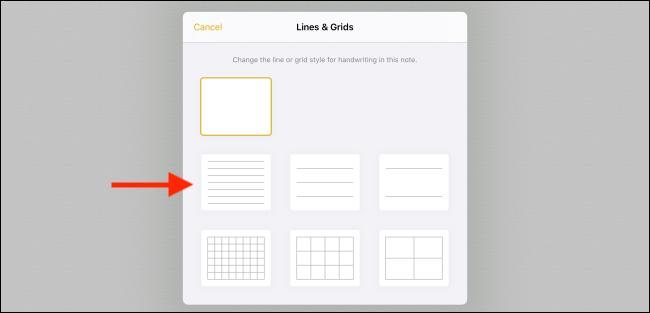 Choose a line or grid