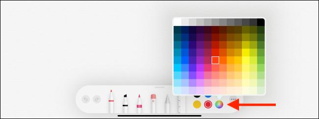 Color Palette option in Notes app