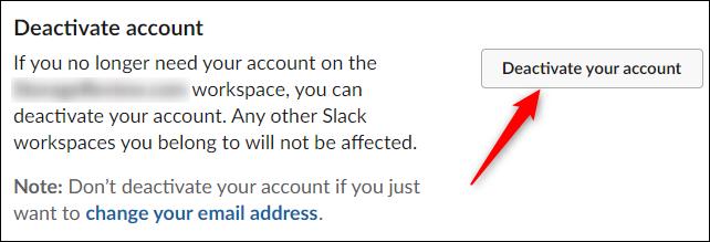Deactivate account option