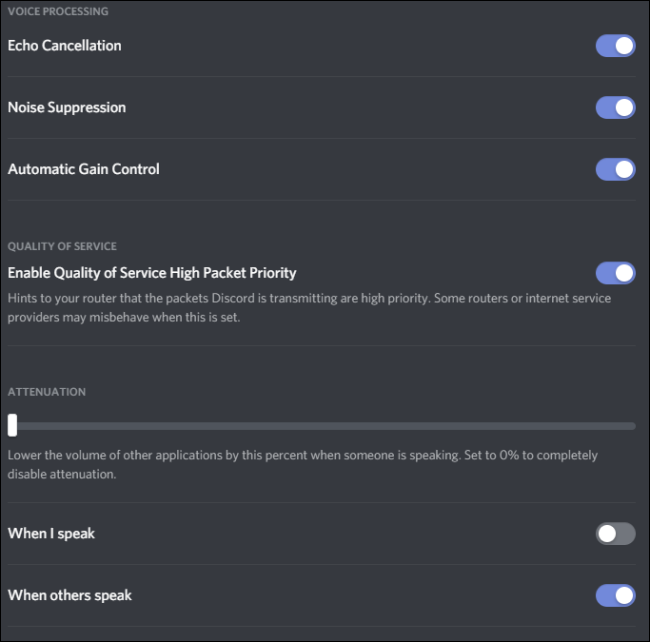 Discord Audio Settings