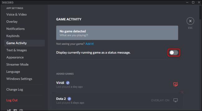 Discord Display Game