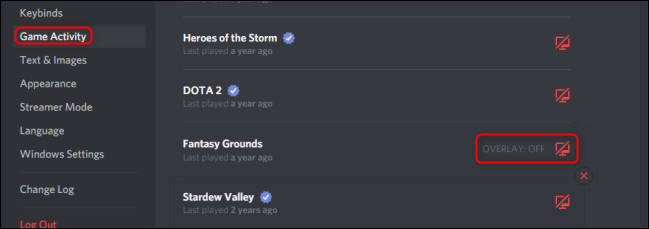 Discord Game Activity