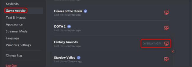 Discord Game Activity