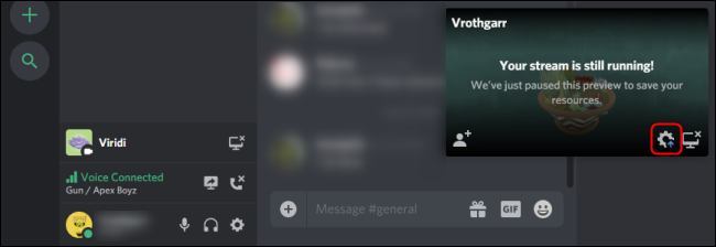 Discord Go Live Interface