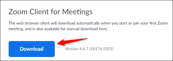 Download button in download center