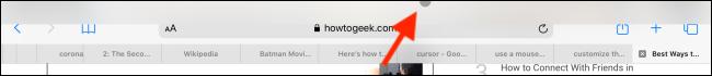 Drag down Notification Center using cursor on iPad