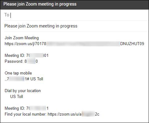 محتوى البريد الإلكتروني لطلب شخص للانضمام إلى اجتماع