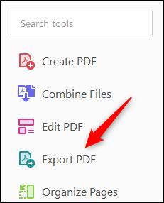 Export PDF option