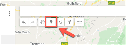 Press Add Marker to add a custom marker point in the Google Maps map editor