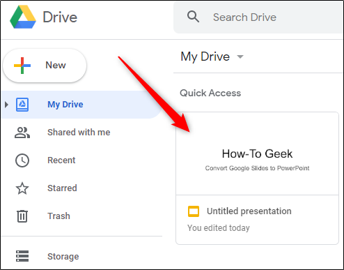 Google Slide to be converted